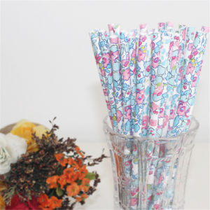 High Quality Colorful Flower Papar Straws Fancy Disposable Paper Straws pictures & photos