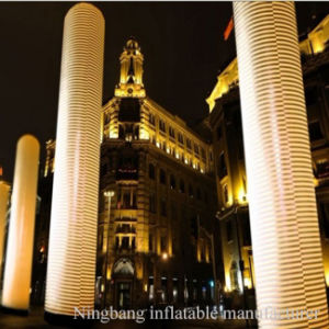 Outdoor Event Decoration Column Inflatable Pillar with LED Light pictures & photos