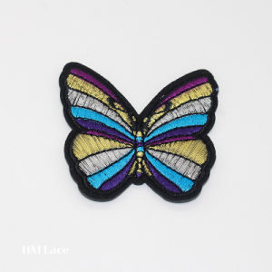 Laser Cut Adhesive Heat Butterfly Jeans Label Patch Hm091 pictures & photos