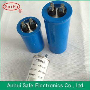Start Capacitor Aluminum Dual Plug Cbb65 Cylindrical Shape Capacitor pictures & photos