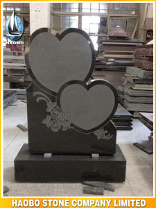 Heart Shaped Headstone Floral Carving pictures & photos