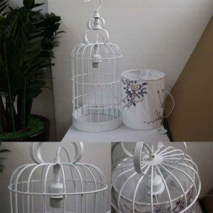 Antique Hotel Decorative White Metal Cage Pendant Lamp pictures & photos