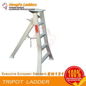 Tripod Welding Aluminum Ladder 5 Steps 1.65 M pictures & photos
