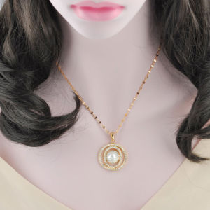 Elegant Style Wedding Round Pearl Necklace with Crystal pictures & photos