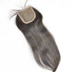 Brazilian Human Virgin Hair Hand Tied Free Parted Lace Closure Lbh 109 pictures & photos