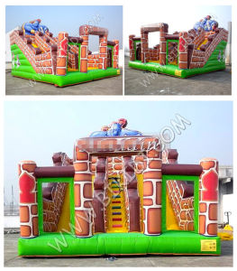 Inflatable Swimming Pool Slide, Commercial Grade Vinyl Inflatable Rotating Slide B4127 pictures & photos