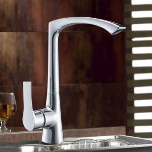 Modern Design Polished and Chrome Plated Brass Kitchen Sink Taps