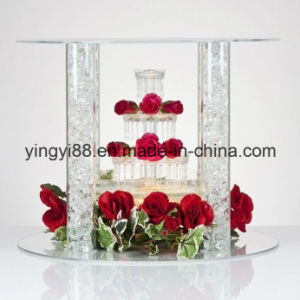 Clear Acrylic Wedding Occassion Cake Stand pictures & photos