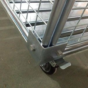 Folding Zinc Plated Roll Container for Storage (SLL07-L017) pictures & photos