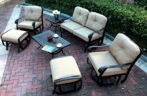 Swivel&Glide Loveseat Set Cast Aluminum Furniture pictures & photos