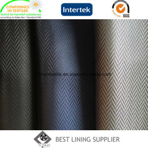 100 Polyester Men′s Jacket Lining Fabric Mini-Jacquard Lining pictures & photos