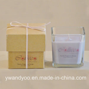 Craft Scented Soy Wax Candle in Glass Jar with Private Label