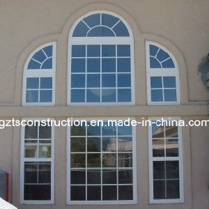 Europe Style PVC Arch Window with Double Glazing pictures & photos