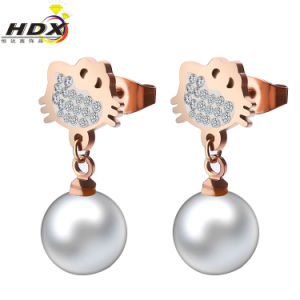 Stainless Steel Jewelry Fashion Pearl Earrings (hdx1125) pictures & photos