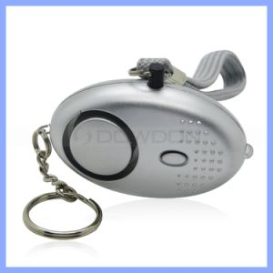130dB OEM Support Black Silver Personal Alarm with Keychain Torch Light Lay Security Alarm Promotion Gift pictures & photos