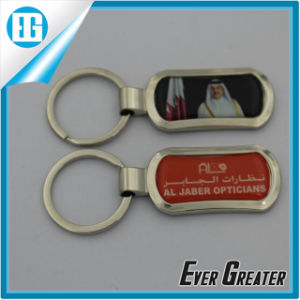 Blue Circular Custom Logo Key Chain with Epoxy Sticker pictures & photos