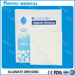Diabetic Leg Wounds Venous Ulcer Non-Adherent Pad Wound Absorbent Calcium Alginate Wound Dressing Burn Pad pictures & photos