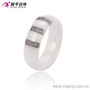 Fashion Women Elegant Round Stainless Steel Jewelry Ceramic Finger Ring -13744 pictures & photos