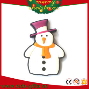 Customzed Eco-Friendly PVC Soft Rubber Christmas Snowman Fridge Magnets (RC-CR026)