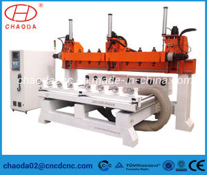 5 Axis Multi Head 3D Wood Carving CNC Router pictures & photos
