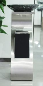Stainless Steel Trash Can with Glass Ashtray (YH-34) pictures & photos