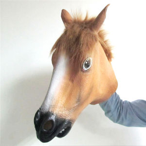 Latex Rubber Creepy Horse Head Mask Halloween Costume Novelty Masks pictures & photos