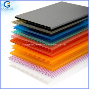 Color Hollow 4mm/6mm/8mm10mm Polycarbonate Sheet pictures & photos