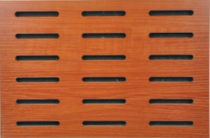 Hotel Decor U Grooved MDF Acoustic Panel (UPSM15MF) pictures & photos