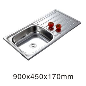 Kitchenware Stainless Steel One Stretched Sink (9045YQ) pictures & photos