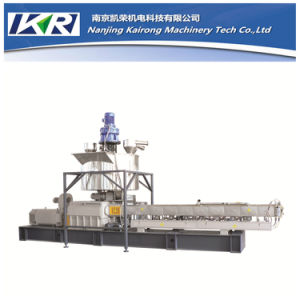 PP/PE+ CaCO3 Filler Masterbatch Co-Roating Twin Screw Extruder Machine pictures & photos
