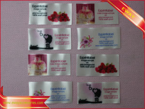 Clothing Satin Cotton Printing Label Fabric Printed Label pictures & photos