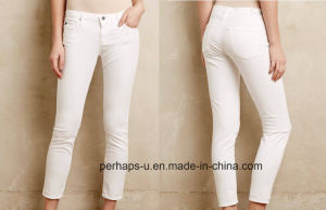 Fashionable White Ladies Slim Jeans pictures & photos