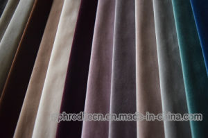 High Quality 100% Polyester Velour/Velvet Fabric for Sofa/Curtain pictures & photos
