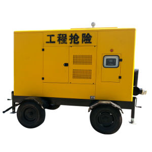 Trash Dewatering Centrifugal Diesel Water Pump with Trailer pictures & photos