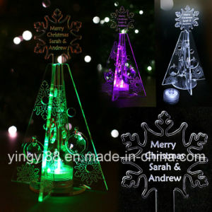 Personalised Christmas Tree Table Decoration Green LED pictures & photos