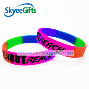 Silicone Bracelet with Segmented Color pictures & photos