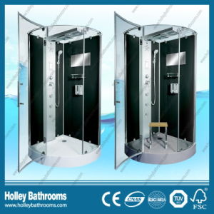 New Design Shower Room with Hinge Double Roller Wheel Sliding Door (SR216B) pictures & photos