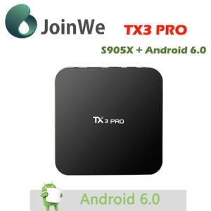 Tx3 PRO S905X 1/8g Android 6.0 TV Box pictures & photos