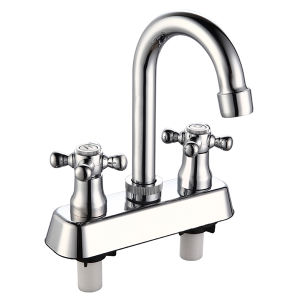 ABS Plastic Faucet with Two Handle in Chrome Surface pictures & photos