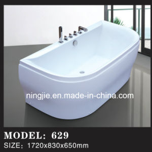 Acrylic Fibre Glass Bathroom Freestanding Bathtub with Shower (629) pictures & photos