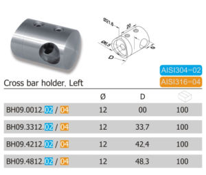 21.6mm Left Stainless Steel Cross Bar Holder (BH09.02/04) pictures & photos