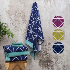 100%Cotton fashion Jacquard Beach Towel pictures & photos