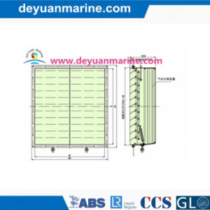 Marine Shutter with Air-Water Separator pictures & photos