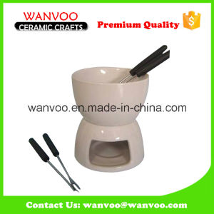 Porcelain Mini Kitchenware for Ceramic Fondue Cook Set pictures & photos