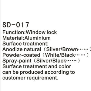 Aluminium Door/Window Handle/Lock with Keys Hardware Accessories (SD-017) pictures & photos