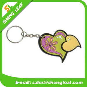 Custom Love Shape Rubber Key Chain for Gift (SLF-KC062) pictures & photos