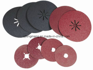 0.8/0.6mm Fiber Paper Aluminum Oxide/Silicon Carbide Fiber Disc Kf807 pictures & photos