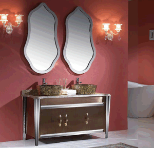 Hangzhou Popular Stainless Steel Bathroom Vanity Cabinet (A8831) pictures & photos