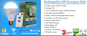 E27/B22 Rechargeable Emergency LED Bulb with Factory Direct Price pictures & photos