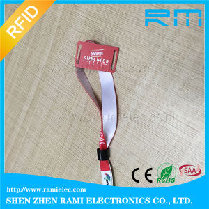 NFC Wristband Strap / Stretch Woven RFID Wristband with Ultralight-EV1 Chip pictures & photos
